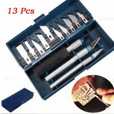 1 Set / 13Pcs Exacto Multipurpose knife Engraved Paper Knife Style Arts Hobby