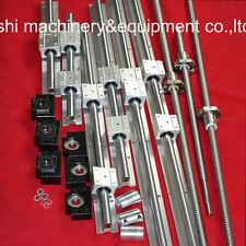 3 ballscrew RM1605-350/550/850mm+3 sets SBR linear rails+3sets BK/BF12+coupler