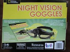 National Geographic NIGHT VISION GOGGLES with SONAR EAR LISTENING DEVICE.