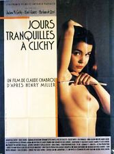 Affiche 120x160cm JOURS TRANQUILLES À CLICHY (1990) Chabrol, Andrew Mccarthy TB#