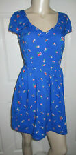 NWT ABERCROMBIE & FITCH Juniors Size M Blue FLORAL SUNDRESS OPEN BACK
