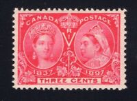 Canada Sc #53 (1897) 3c Bright Rose Diamond Jubilee VF NH