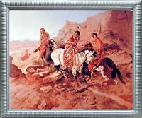Native American Indian Russell (The Scout) Horses Wall Art Decor Framed Picture