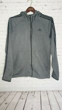 Adidas Men's Track Sport Jacket Size Large Grey  Great Condition