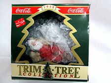 "Coca Cola 1993 Santa in Chair w Coke Bottle Ornament 4"" long"