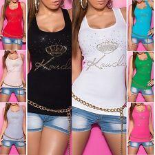 Figurbetonte Damenblusen,-Tops & -Shirts mit U-Ausschnitt und Baumwollmischung für Freizeit