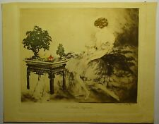 LOUIS ICART : LE JARDIN JAPONAIS Eau-forte et aquatinte originale signée 1932