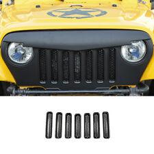 Fit For Jeep Wrangler TJ 1997-2006 Front Bumper Center Hood Honeycomb ABS Black