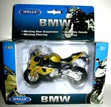 New 1:18 BMW S1000RR Motorcycle Sport Racing Bike Toy Welly Model 12810
