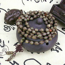 Tibet Buddhism 108 Gold-bell Bodhi seed Prayer Bead Mala Necklace