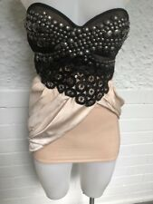 "Galanni Ladies Embellished ""Cherish"" Black and Nude Strapless Mini Dress Size 6"