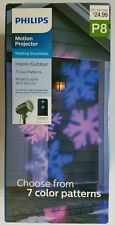 Philips Christmas LED Motion Snowflake Projector with Remote - Multicolored