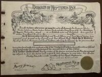 1940's Domain of Neptunus Rex Document - Blank & Unused
