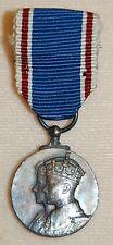 King George VI 1937 Coronation silver MINIATURE MEDAL