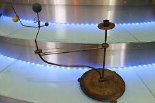 très rare planétarium 19ème sur socle et bougie complet