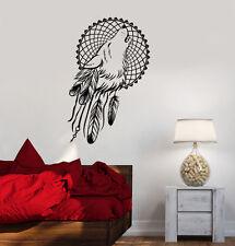 Vinyl Wall Decals Dream Catcher Wolf Bedroom Dreamcatcher Ethnic Stickers ig3620