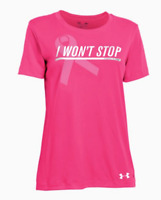 Under Armour UA PIP Pink Ribbon Breast Cancer I Won't Stop Shirt Womens medium