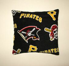 "LAST ONE - PITTSBURGH PIRATES THROW PILLOW 18X18"" BLACK FLEECE BACK-LAST ONE!"