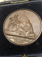 More details for british victoria large bronze medals uk birmingham medallion with box