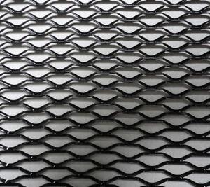 Black Hexagonal Mesh Car Front Upper Bumper Grille Net Aluminum Grille Section