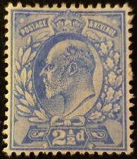 DUZIK:  GB Edward VII 1902-1910 SG230 De La Rue 2½d Ultram.M/M Stamp (No915)**