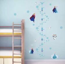Disney frozen wall stickers Height Growth Chart Anna Elsa