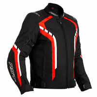 RST Axis CE Moto Motorcycle Motorbike Textile Jacket Black / Red / White
