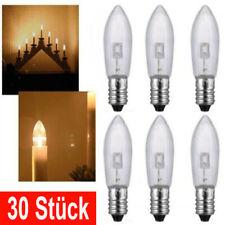 30Stk E10 LED-Ersatzlampen Glühbirnen Topkerze für Lichterkette Lichterbogen De