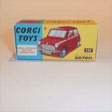 Corgi Toys  225 Austin 7 Morris Mini Cooper empty Repro Box