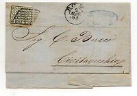 ANTICHI STATI 1865 STATO PONTIFICIO 2 BAJ SU BUSTA ROMA 2/5 D/8615
