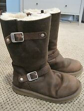 Ugg Australia Kensington Toast Brown 1969 Sheepskin Women Boot W Zipper size 4.5