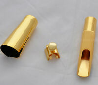 High grade Metal Saxophone Mouthpiece Tenor Sax MPC Gold plated size 5-9