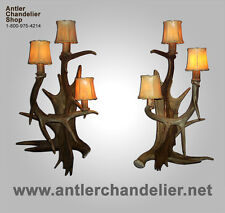 REAL ANTLER FALLLOW/MOOSE/WHITETAIL SCONCE Lamps, ACS Lights, Chandelier SC-4