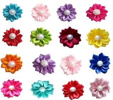 10Pcs Assorted Flowers Hair Bows For Small Dog Pet Topknot Grooming Accessories