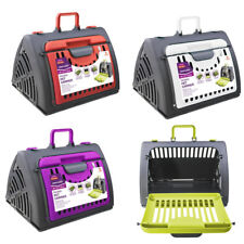 Collapsable Pet Carrier Tavel Carry Case Small Dog Cat Rabbit Compact 4 Colours