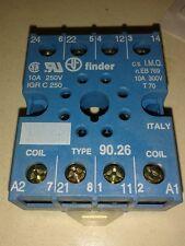 90.26 FINDER ZOCCOLO BASETTA RELE OCTAL relay  Socket