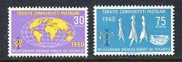 30925) Turkey 1960 MNH Women'S Intl. Council 2v. Scott #