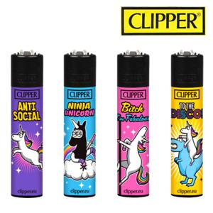 Briquet Clipper - Collection complète briquet clipper x 4 - Licornes