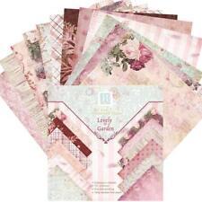 24 Sheets Scrapbook Paper Pad Floral Scrapbooking Exquisite Cardstock Paper Pad