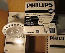 6 NEW PHILIPS LED FLOOD LIGHT BULBS/LAMPS 90W 90 WATT/13W AIRFLUX PAR38 DIMMABLE