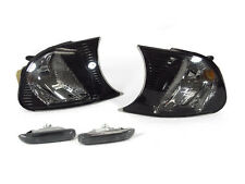 DEPO Crystal Smoke Corner Signal+Side Marker Lights For 00-01 E46 2D/Convertible
