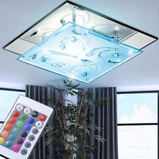 RGB LED Decken Lampe FERNBEDIENUNG Wohn-Zimmer Spiegel Glas Flur Leuchte DIMMBAR