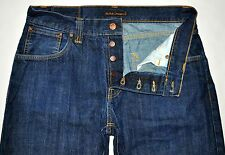 Nudie Jeans Men's Easy Emil Dry Navy 100% Organic Cotton Jeans Sz 33 X 32.5 EUC