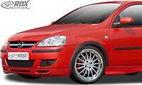 RDX Frontspoiler OPEL Corsa C Facelift (2002+) Front Spoiler Lippe Vorne Ansatz