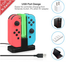 Nintendo switch : 4-In-1 LED USB Charger Station Dock Stand