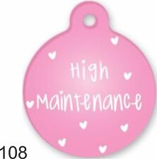 Cute Custom Personalized Pet ID tag for Dog and Cat Collars unique high maintena