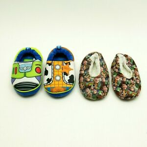Lot of 2 Pair Toy Story 4 Slipper Size 5-6 TODDLER