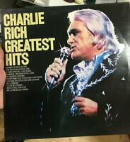 "CHARLIE RICH GREATEST HITS   LP 12"" VINYL ALBUM EX COND"