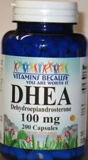 DHEA 100mg 200 Capsules, Boosts Metabolism, Healthy Aging