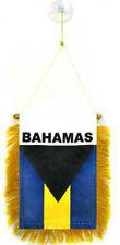 "Wholesale lot 3 Bahamas Mini Flag 4""x6"" Window Banner w/ suction cup"